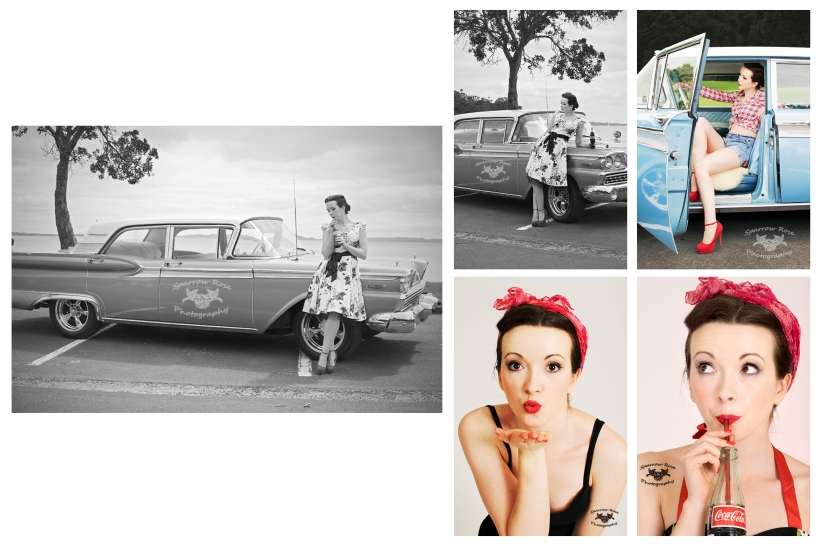 Sparrow Rose Photography - Tessa Pin Up - Car