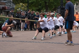 Hospice ladies tug-of-war